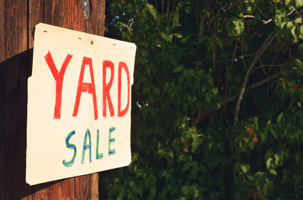 If you're having a yard sale, protect your home interests from passersby