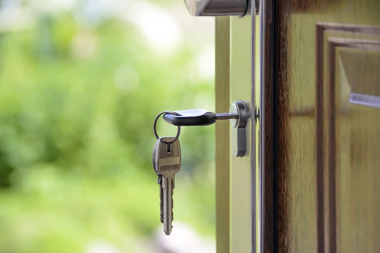 Keys in door lock, how to secure your home on a budget