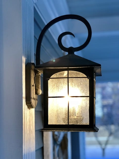 Glowing porch light